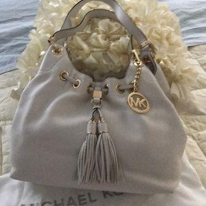 Michael Kors Ecru Tassel Shoulder Bag